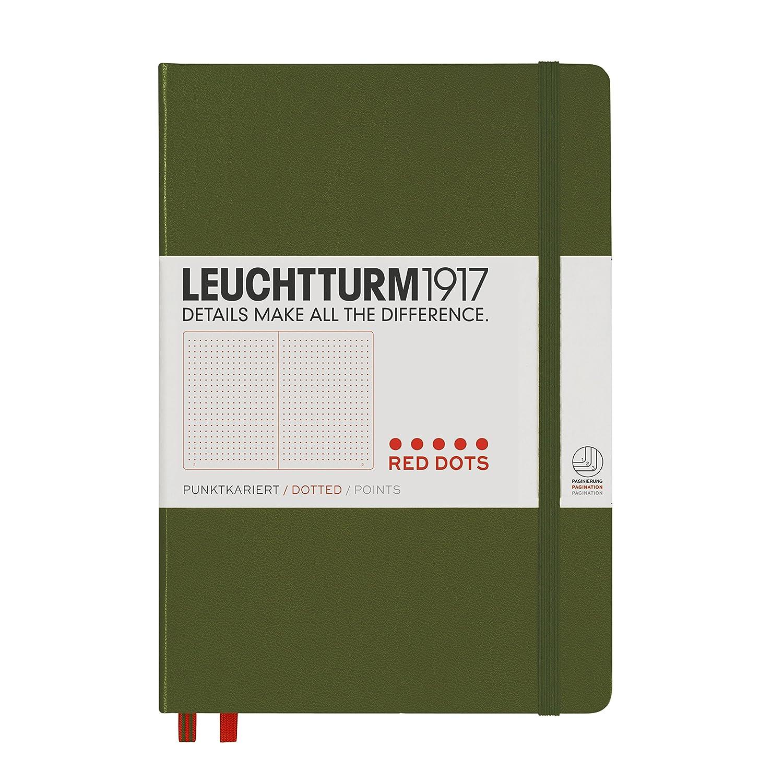 15 mm elastische Schlaufe, selbstklebend, 40 x 40 mm A5 Army /& Leuchtturm1917 348093 Stiftschlaufe Hardcover LEUCHTTURM1917 348103 Notizbuch Medium dotted army