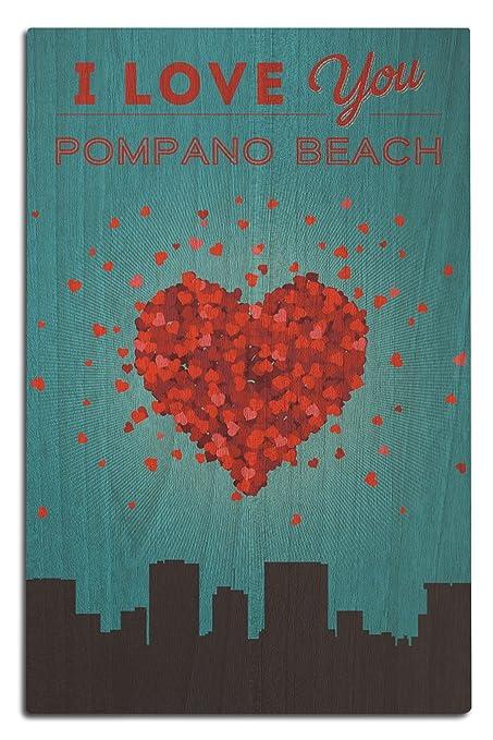 Amazon Lantern Press I Love You Pompano Beach Florida 12x18