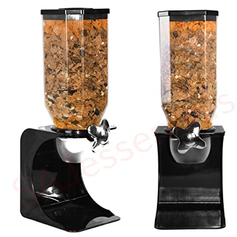 Recipiente dispensador de alimentos, transparente ideal para cereales secos, para granos, café