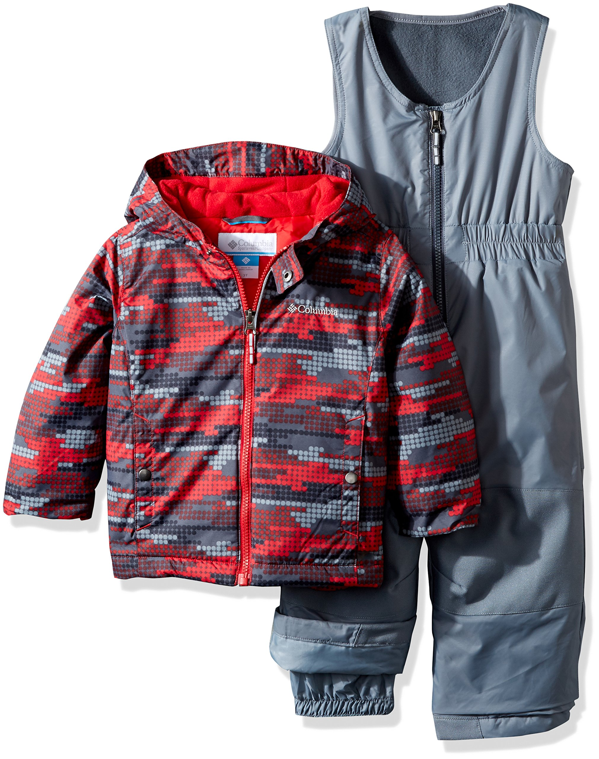 Columbia Little Boys' Frosty Slope Set, Mountain Red Dot Print, X-Small