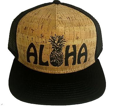 Amazon.com  ThatsRad Aloha Pineapple Cork Snapback Mesh Trucker Hat ... cdd225d4742