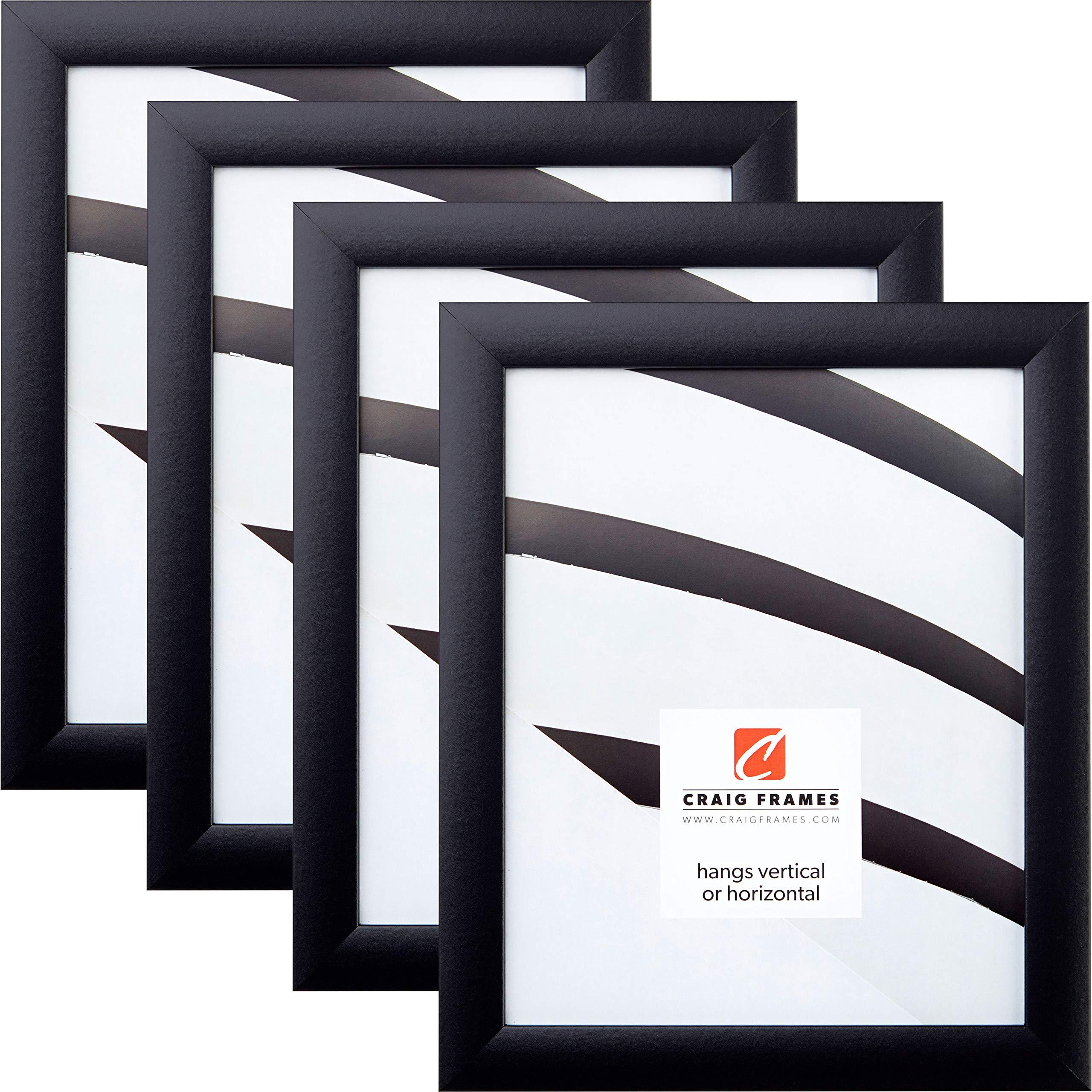 Craig Frames 1WB3BK 8 x 10 Inch Picture Frame, Black, Set of 4 by Craig Frames