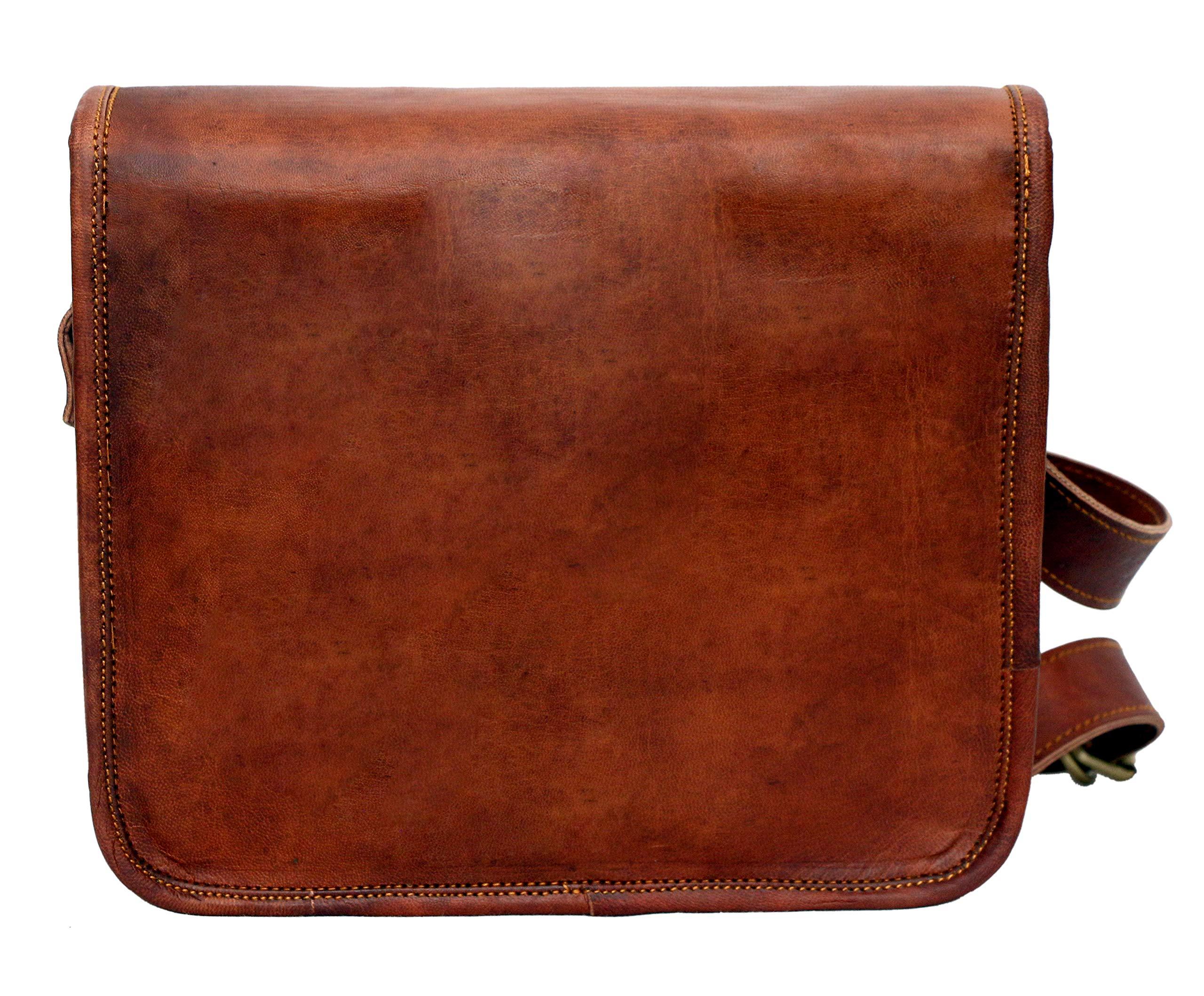 Leather bag Fair Deal / Full flap bag / laptop bag / best computer shoulder briefcase /  Handmade leather bag messenger bag for I pad / brown bag  by Fair Deal (Image #6)