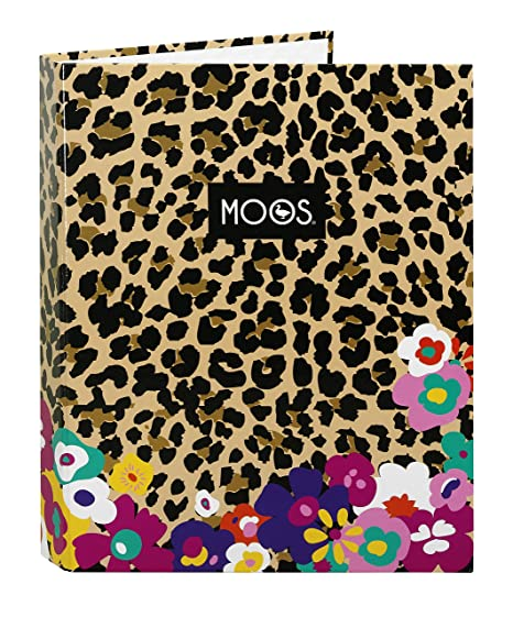 MOOS Carpeta folio con 4 anillas, diseño Animal-Flower (Safta 511518067)