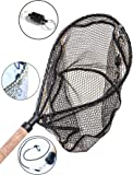 ActionSports Fishing Net / Landing Net - 4in1 - Rubber Coated Anti-Snag Netting - Cork Handle - Trout Fishing Net - Kayak Fishing Net - Fly Fishing Nets