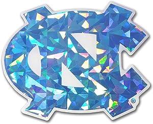 Elektroplate North Carolina Tarheels Color NCAA Reflective 3D Decal Domed Sticker Emblem