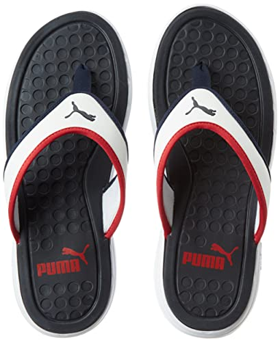 25c838d2a41 Puma Men s Lycus Peacoat-High Risk Red-White Hawaii House Slippers - 8 UK