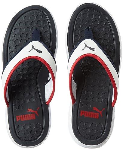 cf464247c4461 Puma Men s Lycus Peacoat-High Risk Red-White Hawaii House Slippers - 8 UK