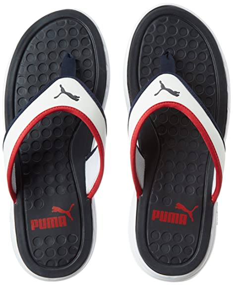 9535173c7 Puma Men s Lycus Peacoat-High Risk Red-White Hawaii House Slippers - 7 UK