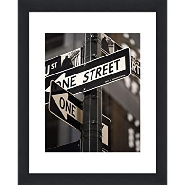 """The Display Guys ~ 4 sets of 16x20 inches Black Wooden Photo Frame, Tempered Glass, Luxury Made Affordable, Each Frame with 1pc White Mat Board for 11""""x14"""" Picture"""