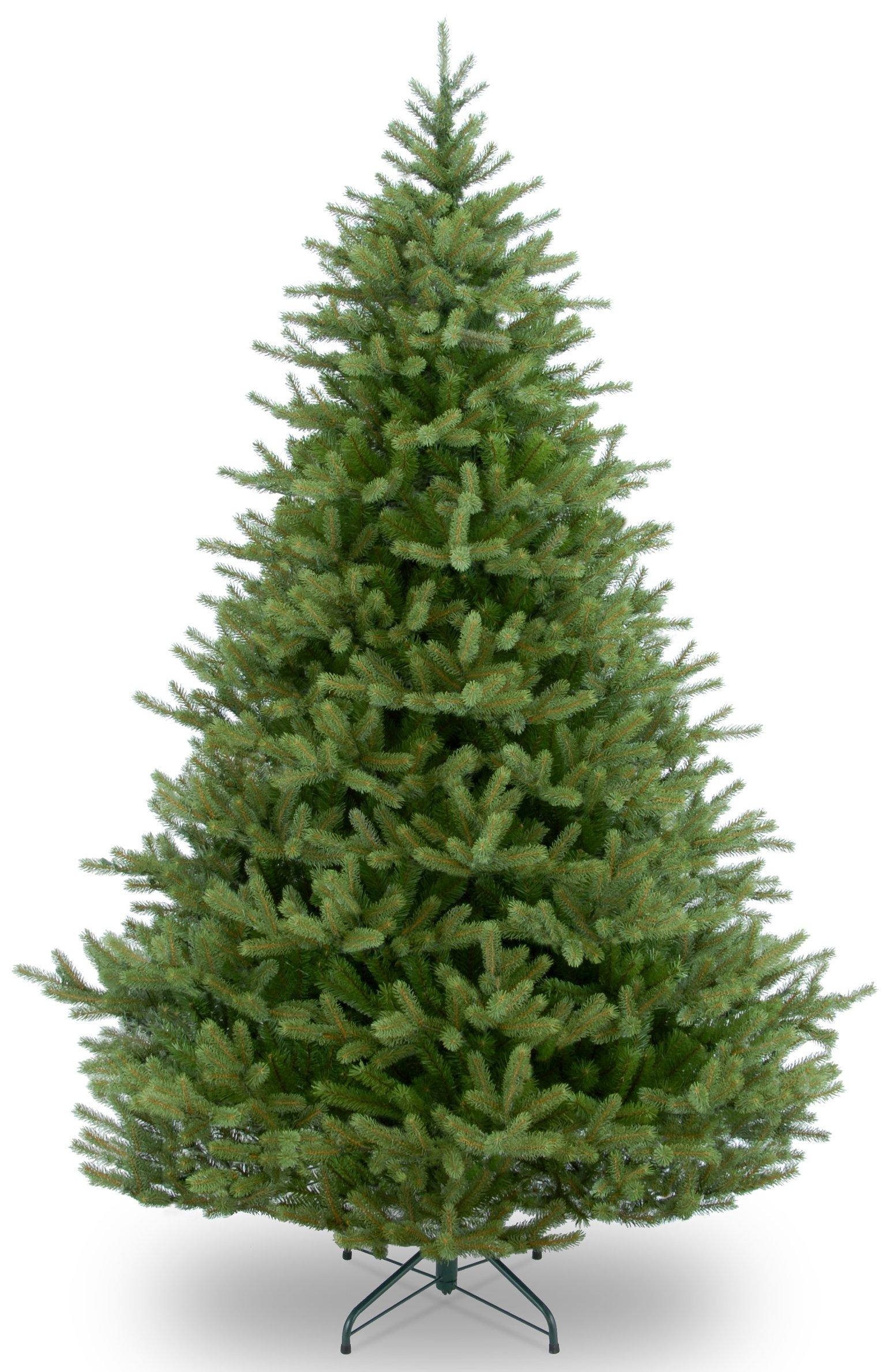 National Tree 7.5 Foot ''Feel Real'' Norway Spruce Tree, Hinged (PENF1-500-75)