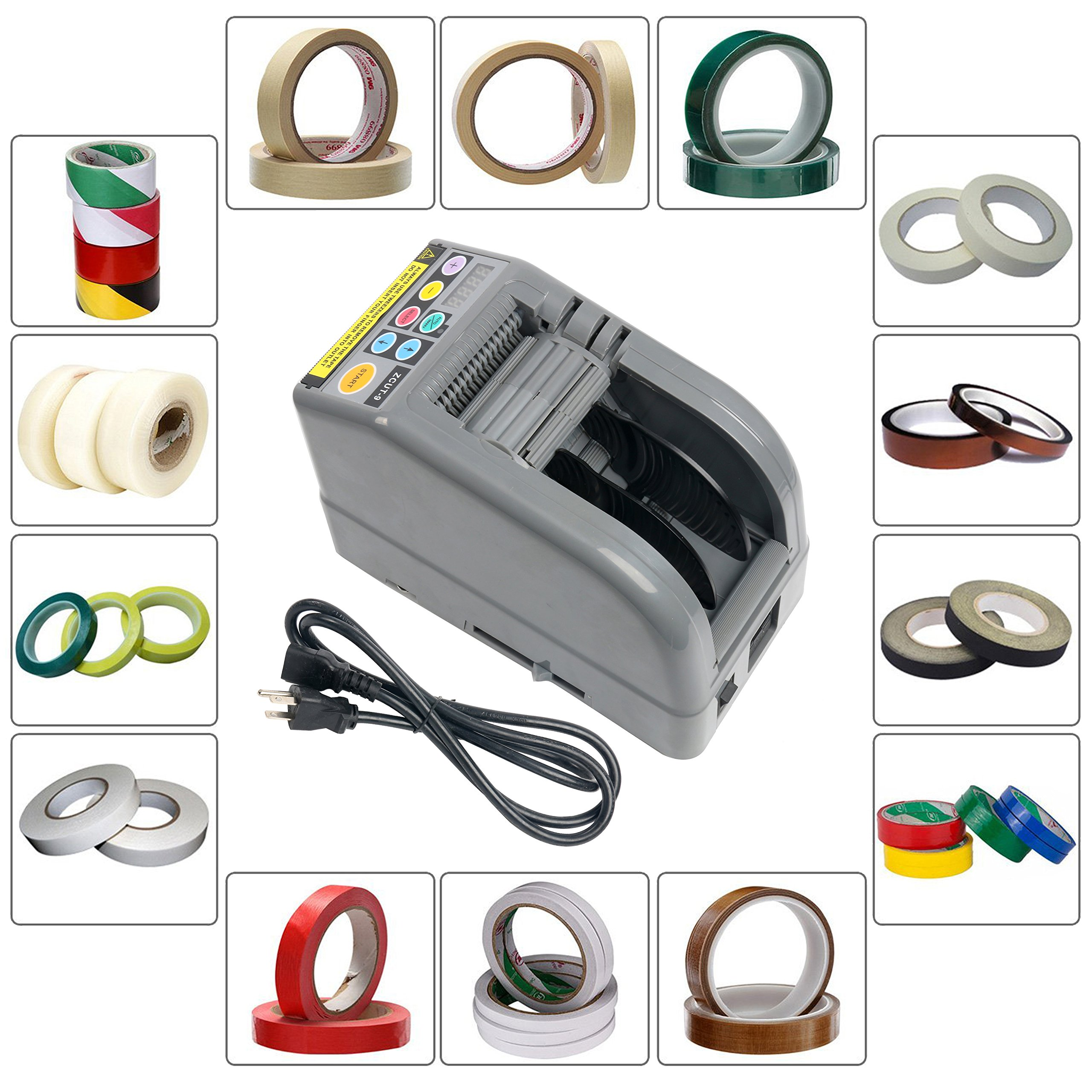 YaeTek ZCUT-9 Electric Auto Definite Length Tape Dispenser Up To 39 Inch length Tape and Suit for Many Kinds Tape Cutting
