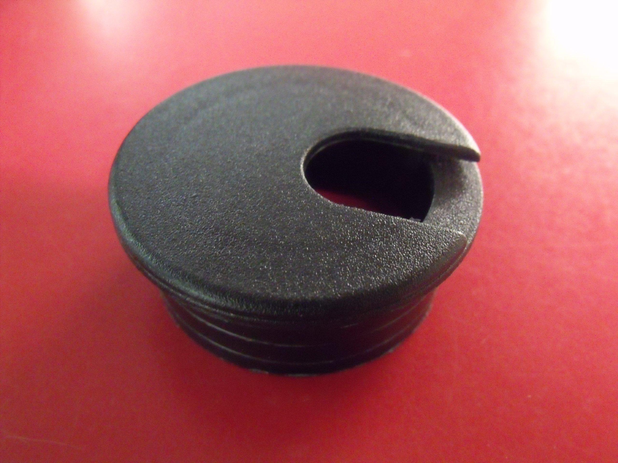 1-3/4'' Black Desk Grommet (10 Pack)