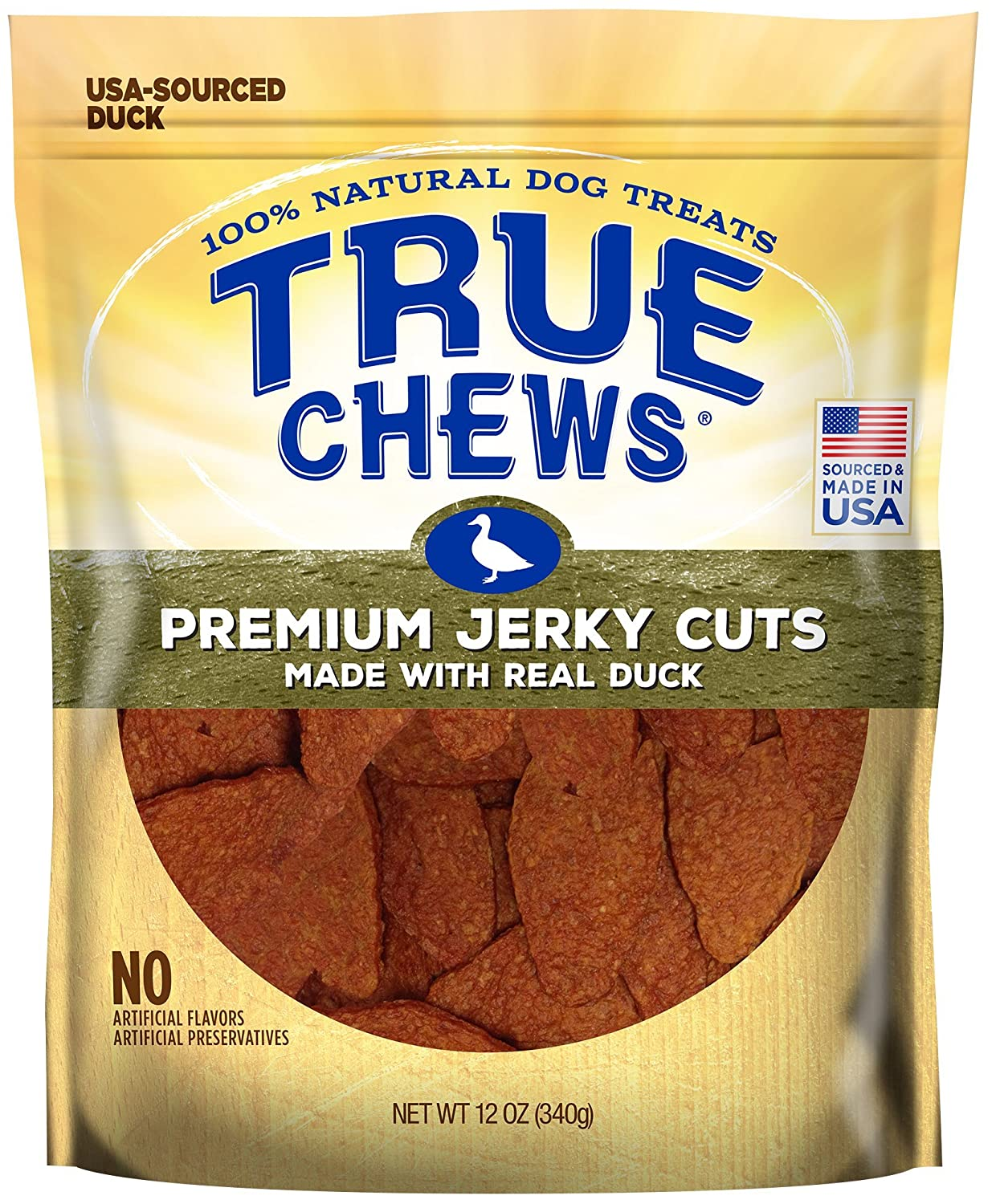 True Chews Premium Jerky Cuts Made with Real Duck
