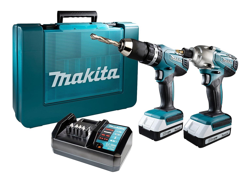 Makita DK18015X1 Combo Kit-Multicolour, 18 V (Set of 2 Piece) Maktia