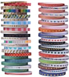 48 Rolls Washi Tape,Foil Gold Skinny Decorative Masking Washi Tapes,3MM Wide DIY Japanese Masking Tape Supplies