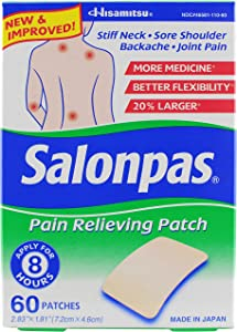 Salonpas Pain Relieving Patches,60 Count