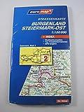 Strassenkarte Österreich 1:150000. Blatt 2: Burgenland-Steiermark Nord