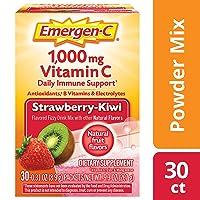 Emergen-C 254507 Vitamin C 1000mg Powder (30 Count, Strawberry Kiwi Flavor, 1 Month...