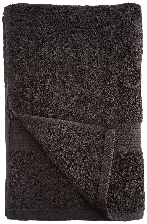 AmazonBasics - Juego de toallas (colores resistentes, 2 toallas de baño), color negro: Amazon.es: Hogar
