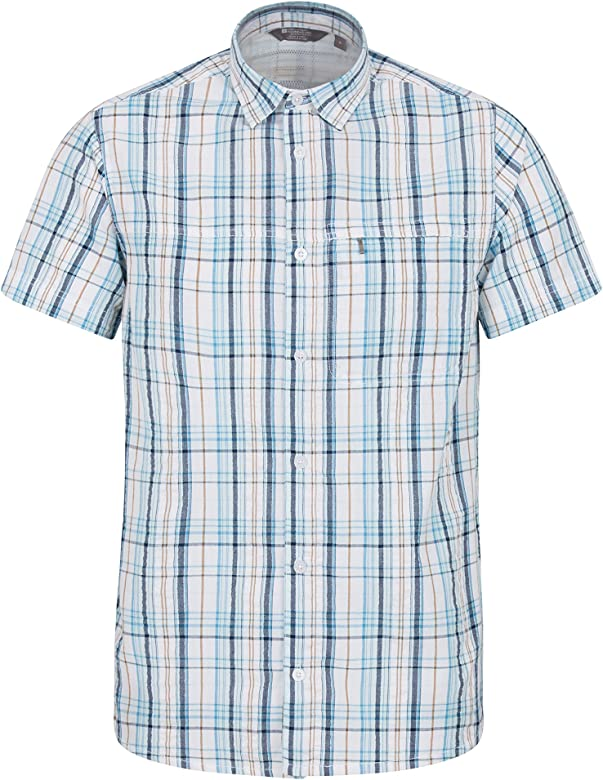 Mountain Warehouse Mens Vacation Shirt Lightweight Summer Top
