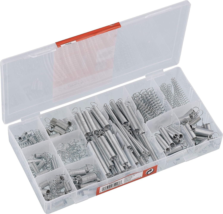 200 St/ück Federn Sortiment Zugfedern und Druckfedern aus Verzinkte Federstahl Feder Set mit Aufbewahrungsbox 20 Gr/ö/ßen