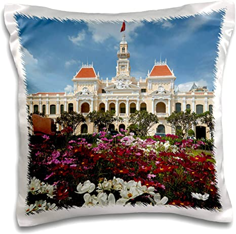 Amazon Com 3drose Danita Delimont Vietnam Peoples Committee Building Ho Chi Minh City Saigon Vietnam 16x16 Inch Pillow Case Pc 312897 1 Kitchen Dining