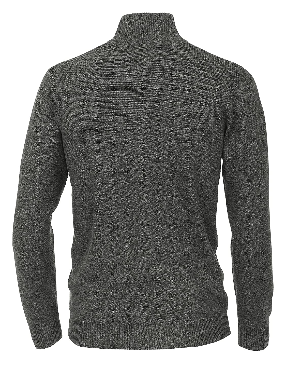 CASAMODA Men's Plain Cardigan grey Mid-Grey