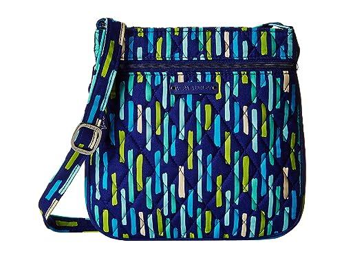 f41960b918 Vera Bradley Women s Petite Double Zip Hipster Katalina Showers Handbag