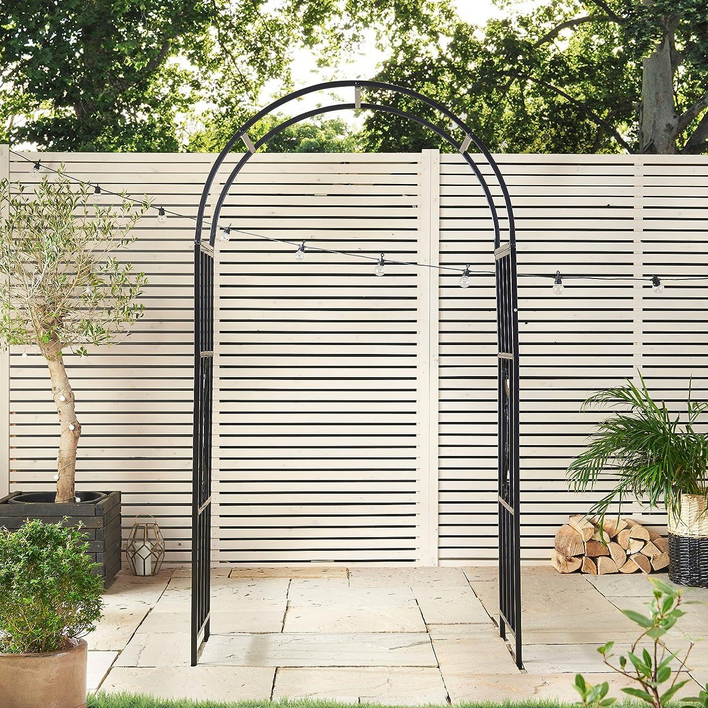 Cenador de metal para jardín, diseño de arco para flores, plantas ...