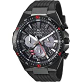 Casio Men's Edifice Stainless Steel Quartz Watch with Resin Strap, Black, 25 (Model: EQS-800CPB-1AVCF)