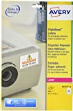 Avery NoPeel L6145-20 800x Permanent Labels 45.7 x 25.4 mm White for Laser Printers