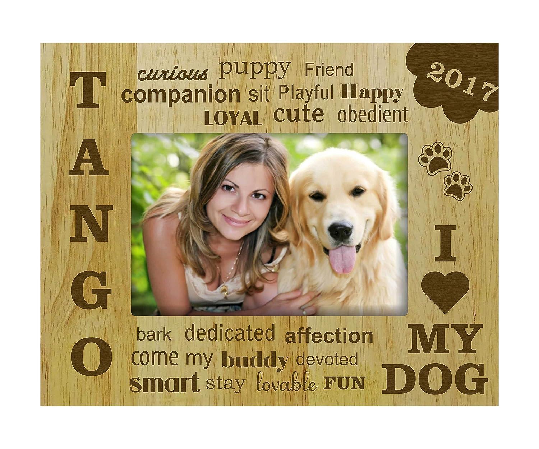 Amazon.de: Graviertes Holz personifiziert i-Liebe mein Hund ...