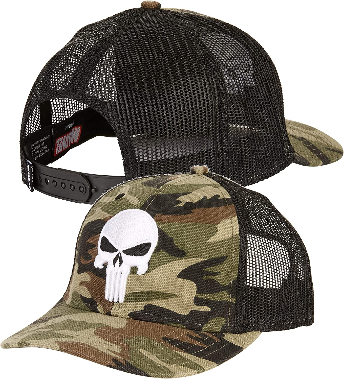 Officially Licensed The Punisher Embroidered Adjustable Size Snapback Cap