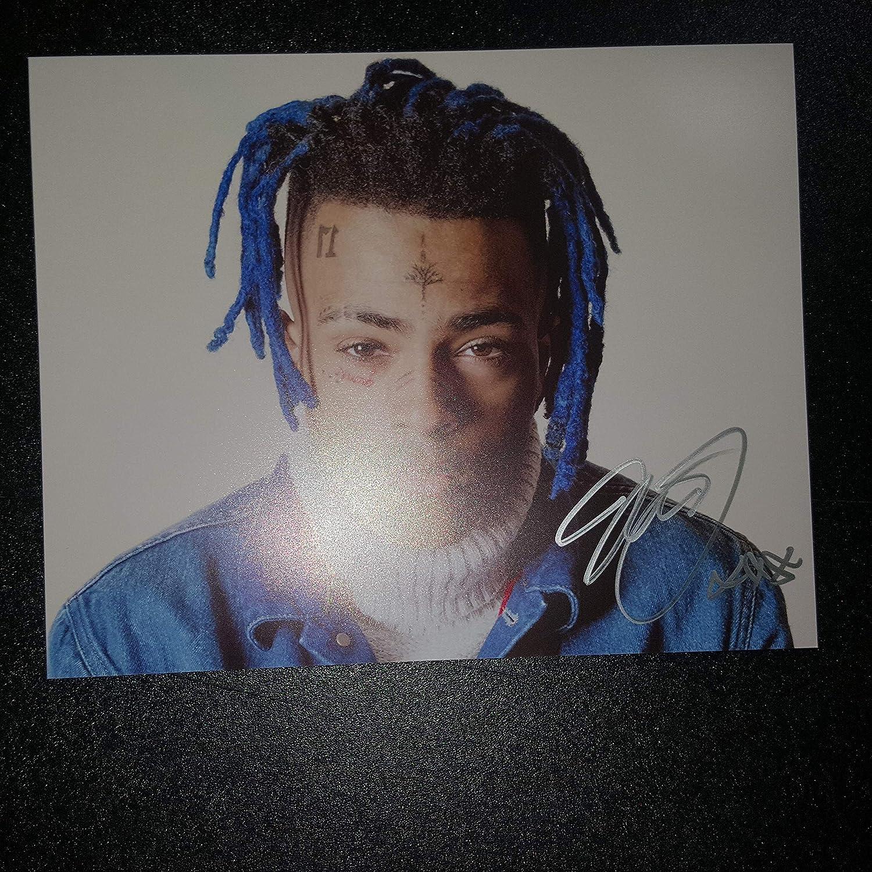 XXXTentacion - Autographed Signed 8x10 inch Photograph - Jahseh Dwayne Ricardo Onfroy RAPPER HIP HOP ARTIST SoundCloud 02