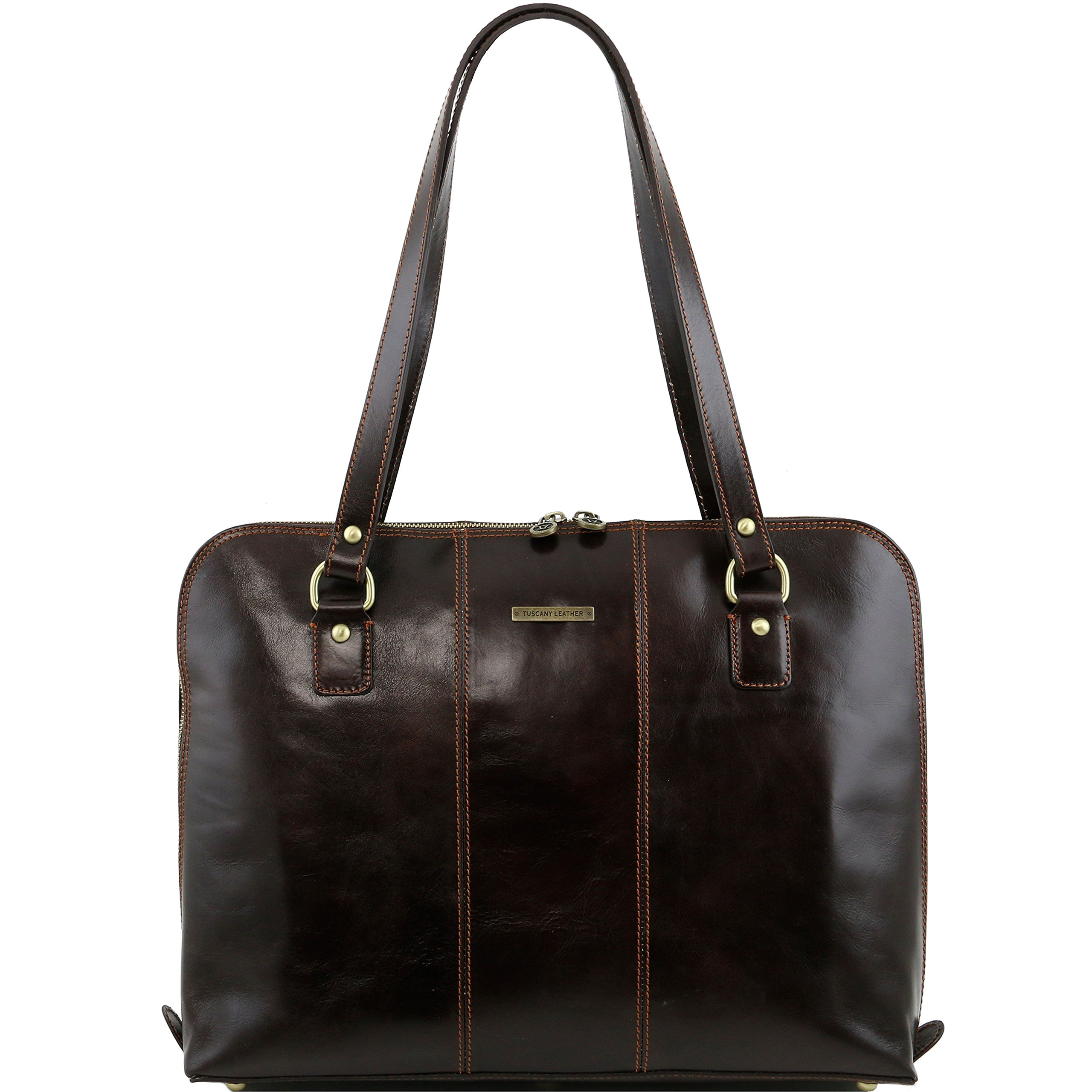 Tuscany Leather Ravenna Exclusive lady business bag Dark Brown