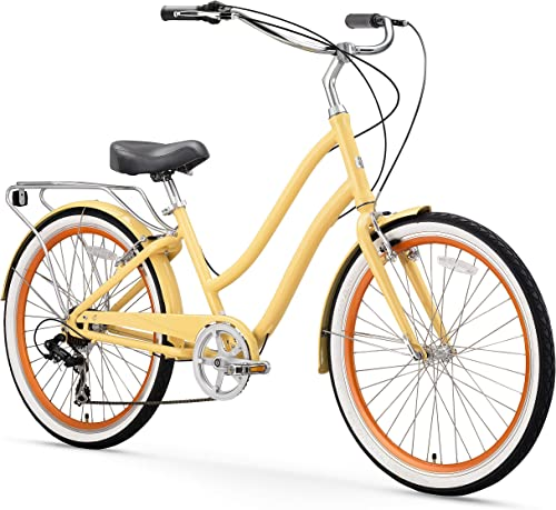 sixthreezero EVRYjourney Women s Step-Through Hybrid Alloy Beach Cruiser Bicycle 24-Inch, 26-Inch, and eBike Renewed