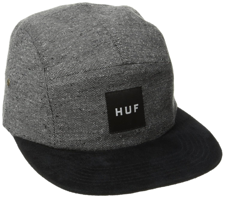 bf9150e9 HUF Tweed Volley 5 Panel Cap (Grey) - Grey - One Size: Amazon.co.uk:  Clothing