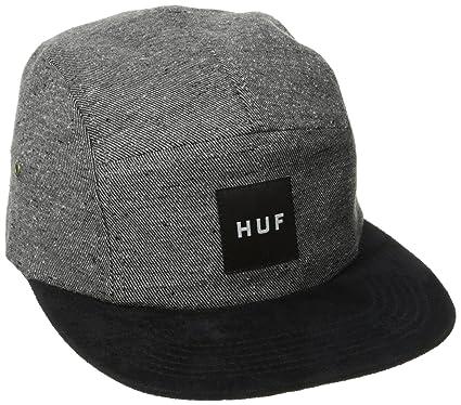 98d260e2 HUF Tweed Volley 5 Panel Cap (Grey) - Grey - One Size: Amazon.co.uk ...