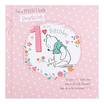 Hallmark Winnie The Pooh Daughter 1st Birthday Card Perfect