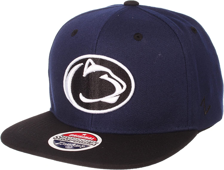 NCAA Zephyr Penn State Nittany Lions Mens Z11 Static Snapback Hat Adjustable Black//Team Color