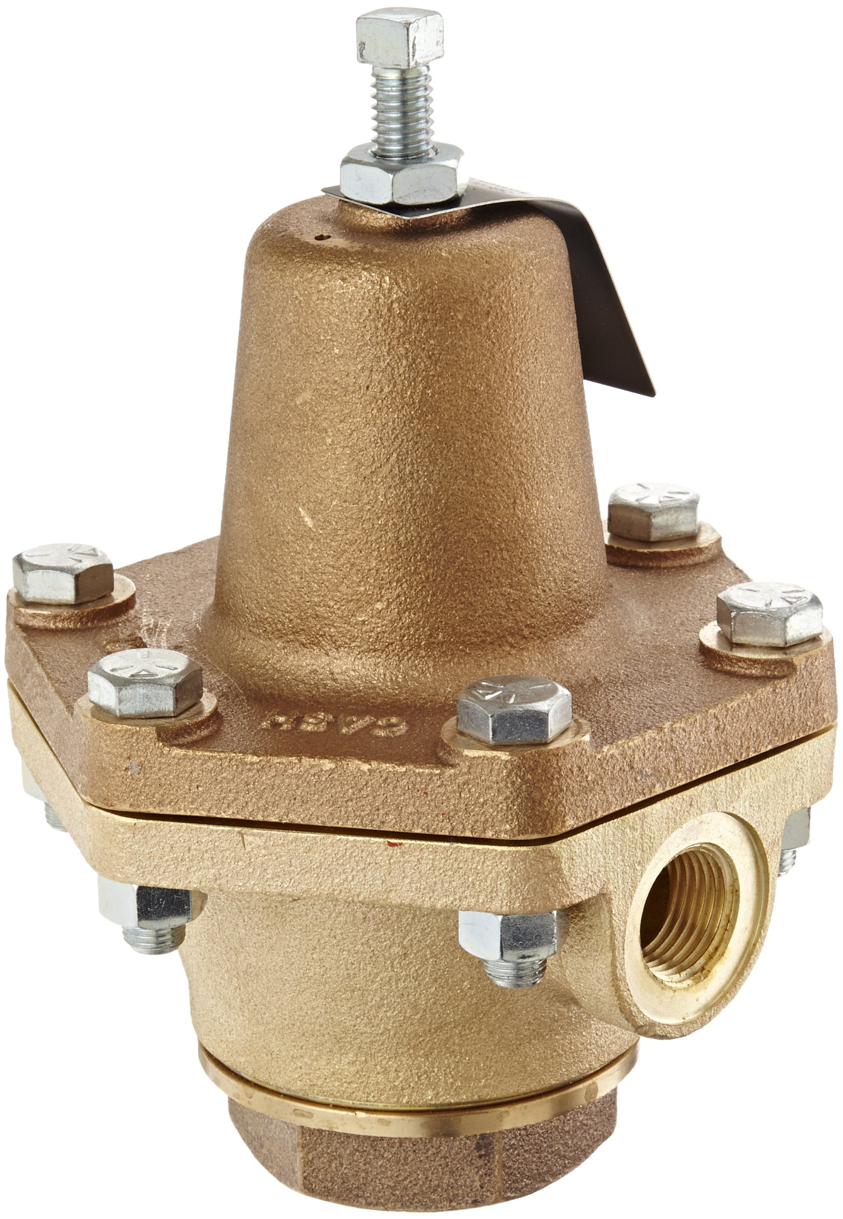 Cash Valve 02770-0100A Bronze Pressure Regulator, 50 - 150 PSI Pressure Range, 1/2'' NPT Female by Cash Valve