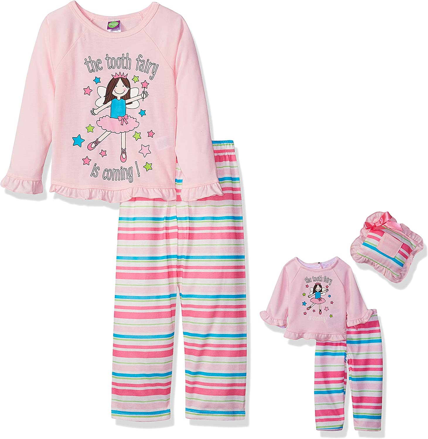 Dollie /& Me Girls Big Knit 3 Pc Sleep Set
