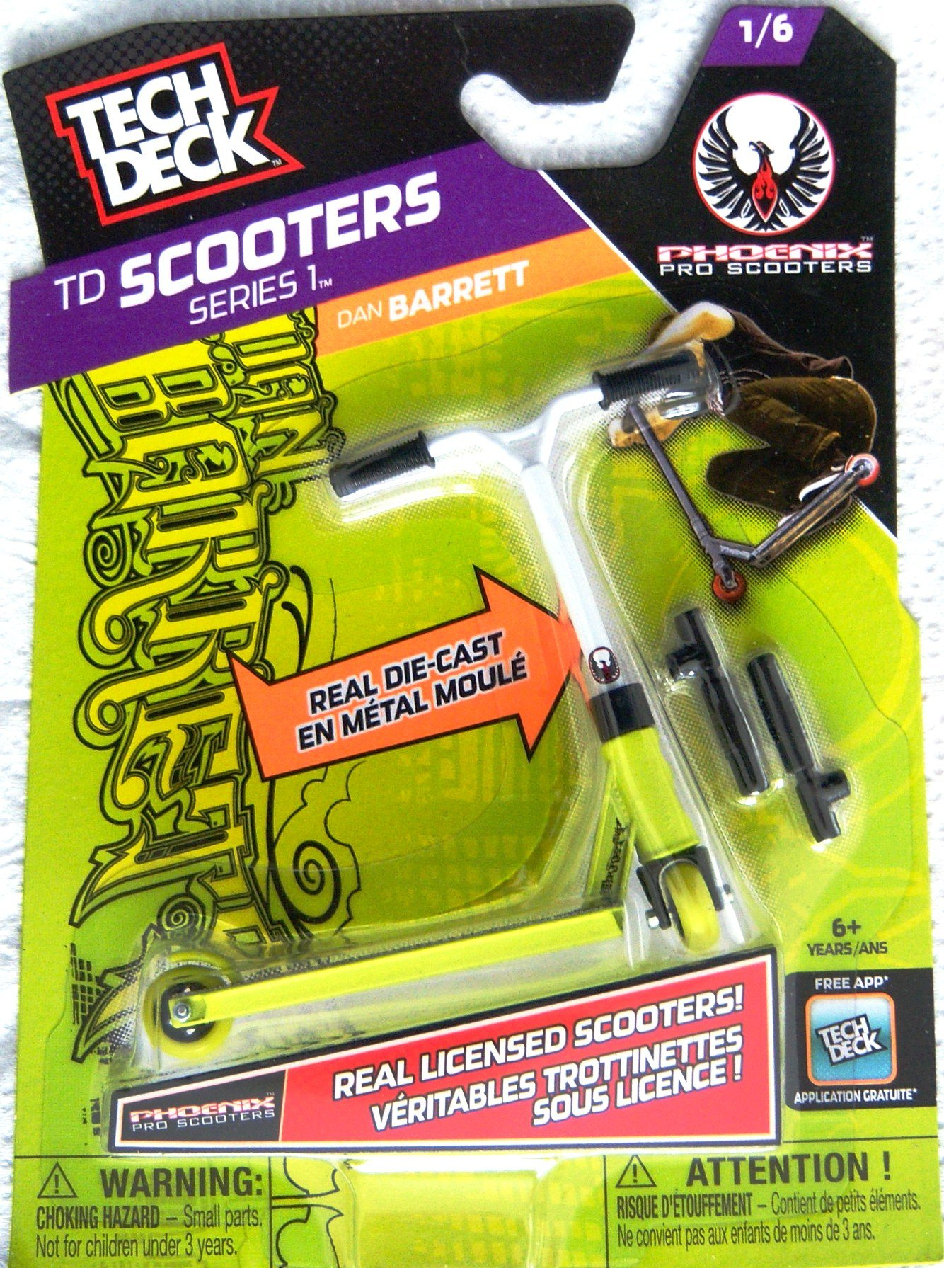 Tech Deck Scooters Series 1 Phoenix Pro Scooters Dan Barrett 1/6