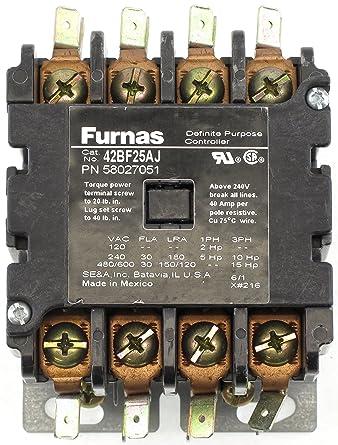 FURNAS 3 PH CONTACTOR A2EF35AJAGV 24V COIL 75A A AMP 600Vac