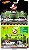 Ghostbusters Hot Wheels 4 Car Set Twin Pack EXCLUSIVE Ecto-1, Ecto-1A, Ecto-2 Motorcyle Models