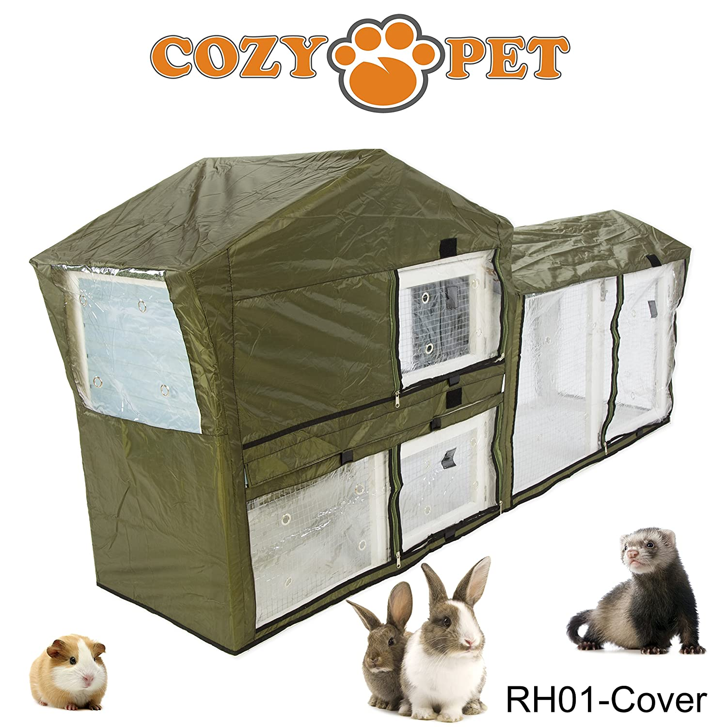 HUTCH COVERS RH01C  Hutch CoverCozy Pet Rabbit Hutch Guinea Pig Hutches Run Runs Large 2 Tier Double Decker Ferret Cage in Pink RH01P (We do not ship to Northern Ireland, Scottish Highlands & Islands, Channel Islands, IOM or IOW)