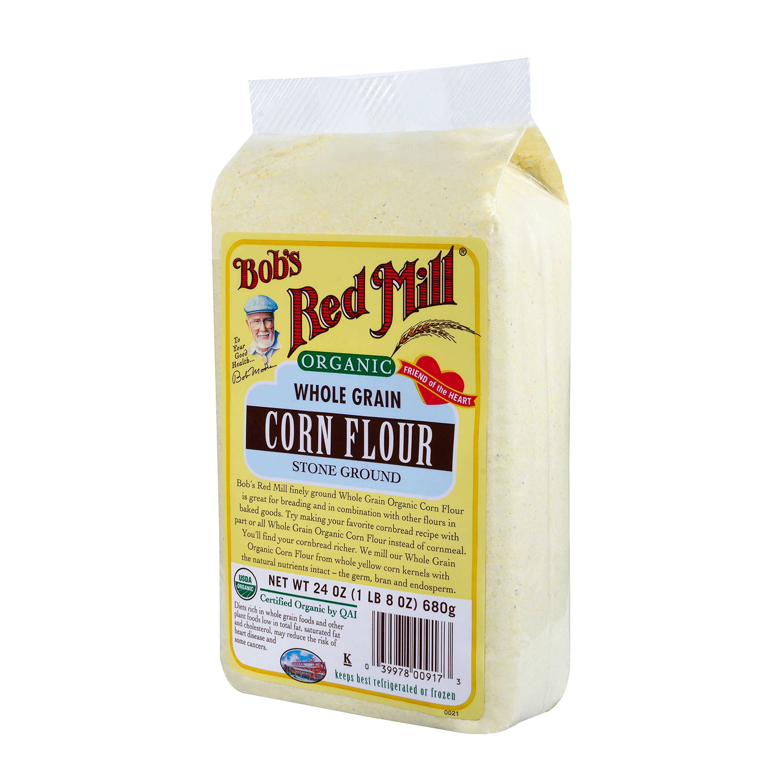 Bob's Red Mill Organic Corn Flour, 24-ounce