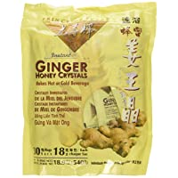Prince of Peace Instant Ginger Honey Crystals, 30 ct Bags - 18 g Sachets, (Pack...