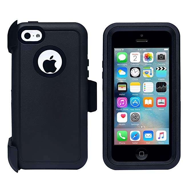 805ab204b64 AlphaCell M021 - Carcasa para iPhone 5C, Negro/Negro: Amazon.com.mx:  Electrónicos
